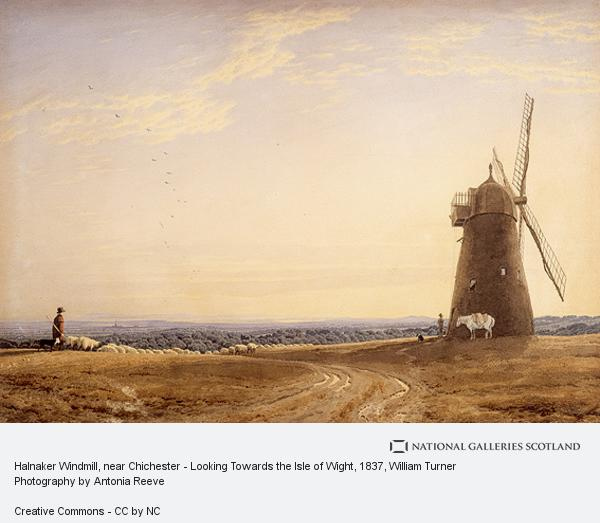 William Turner, Halnaker Windmill, near Chichester - Looking Towards the Isle of Wight