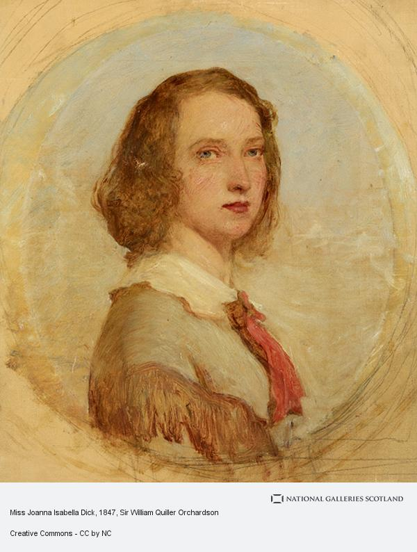 Sir William Quiller Orchardson, Miss Joanna Isabella Dick