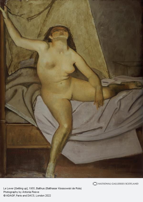 Balthus (Balthasar Klossowski de Rola), Le Lever [Getting up] (1955)