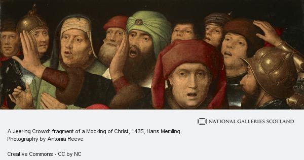 Hans Memlinc, A Jeering Crowd: fragment of a Mocking of Christ