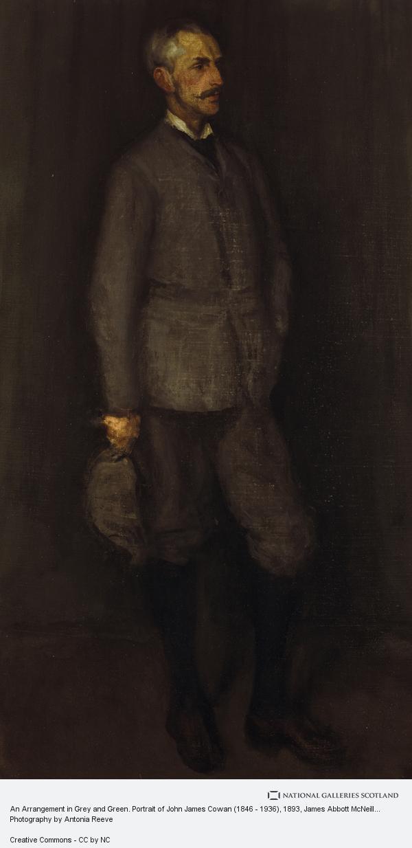 James Abbott McNeill Whistler, An Arrangement in Grey and Green. Portrait of John James Cowan (1846 - 1936)