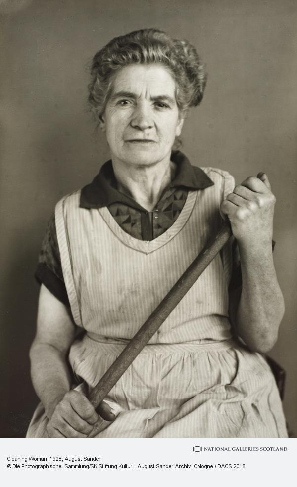 August Sander, Cleaning Woman, 1928 (1928)