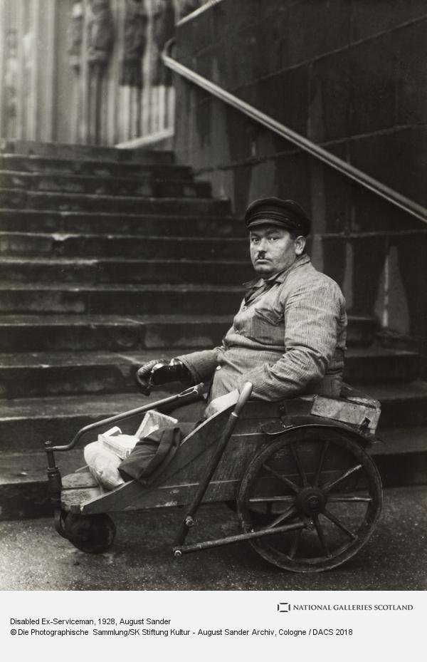 August Sander, Disabled ex-serviceman, c.1928 (about 1928)