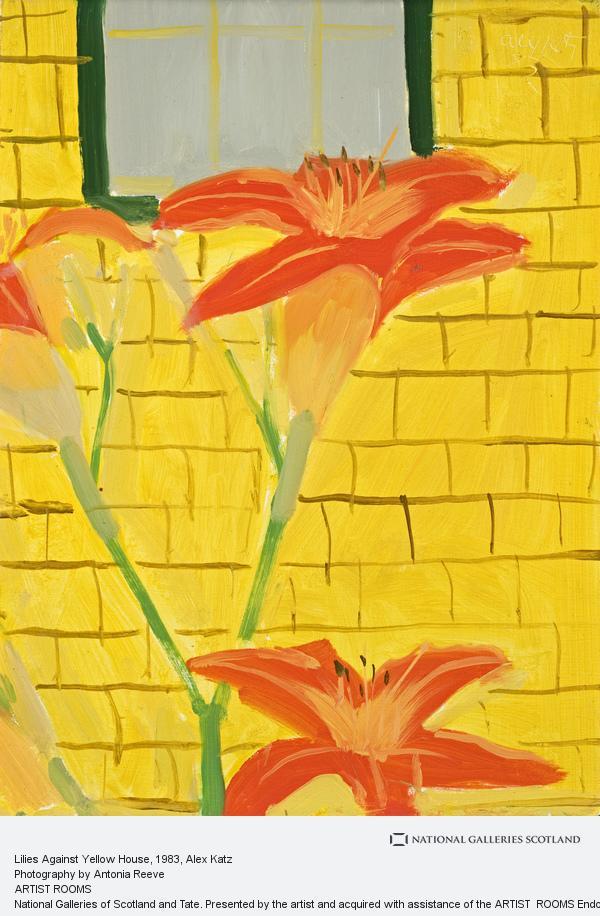 Alex Katz, Lilies Against Yellow House (1983)