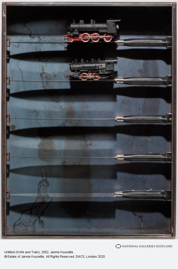 Jannis Kounellis, Untitled (Knife and Train) (2002)