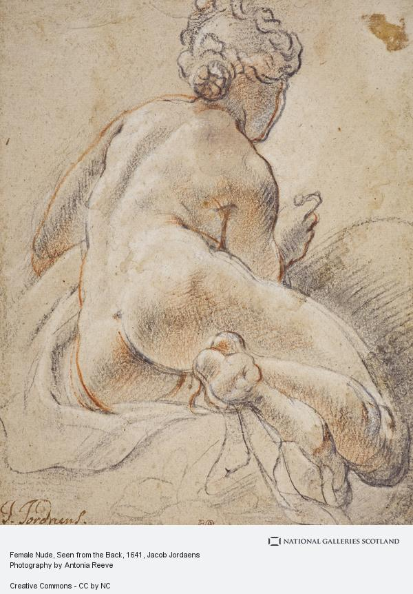 Jacob Jordaens, Female Nude, Seen from the Back