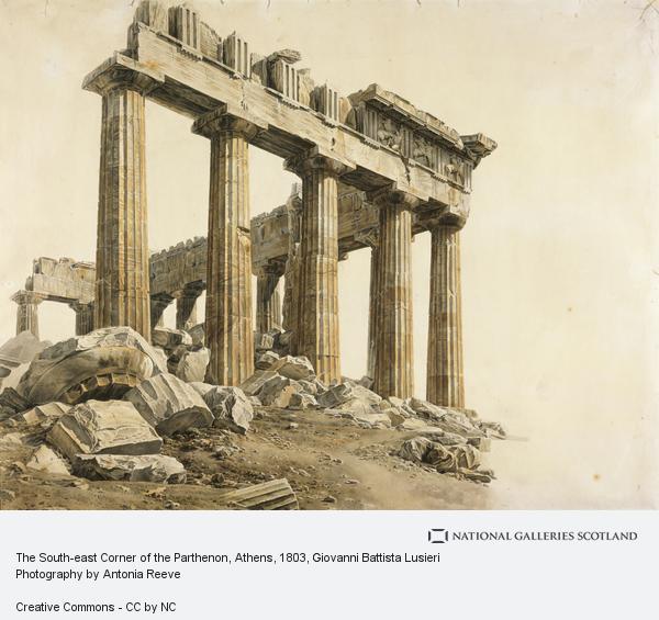 Giovanni Battista Lusieri, The South-east Corner of the Parthenon, Athens