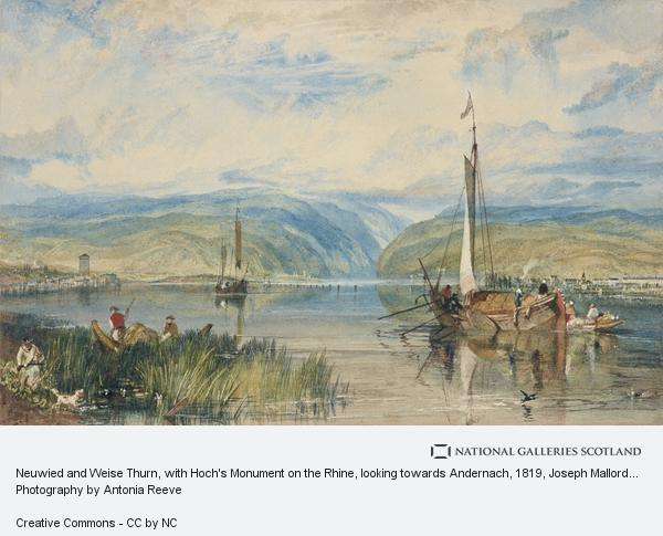 Joseph Mallord William Turner, Neuwied and Weise Thurn, with Hoch's Monument on the Rhine, looking towards Andernach