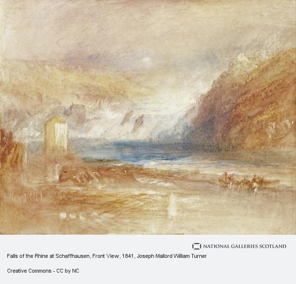 Joseph Mallord William Turner, Falls of the Rhine at Schaffhausen, Front View