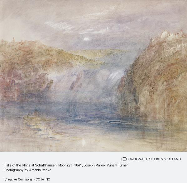Joseph Mallord William Turner, Falls of the Rhine at Schaffhausen, Moonlight