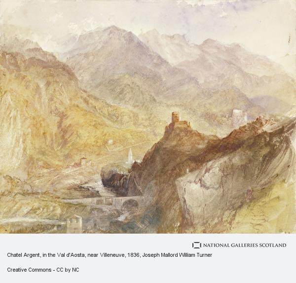 Joseph Mallord William Turner, Chatel Argent, in the Val d'Aosta, near Villeneuve