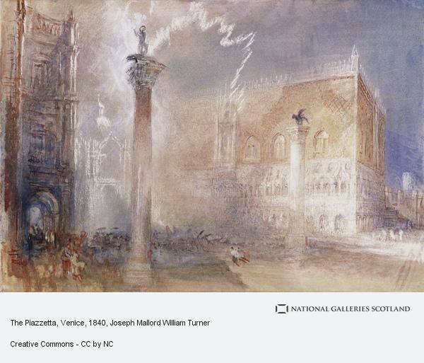 Joseph Mallord William Turner, The Piazzetta, Venice (About 1835)