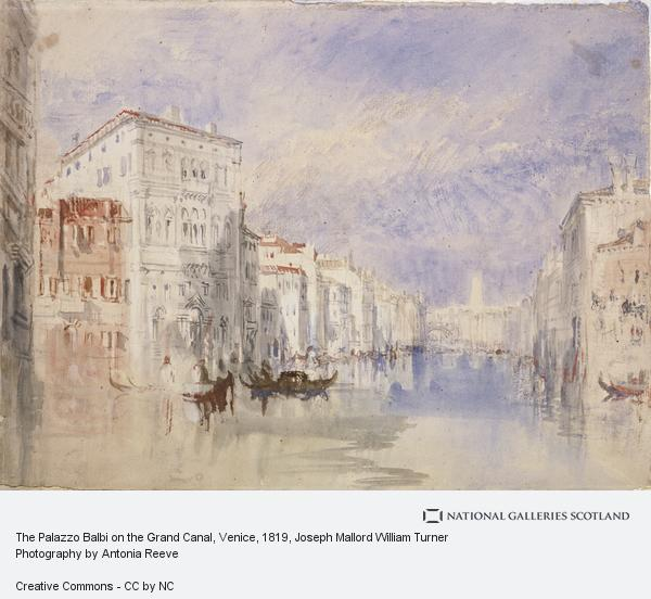Joseph Mallord William Turner, The Palazzo Balbi on the Grand Canal, Venice (About 1819 - 1835)