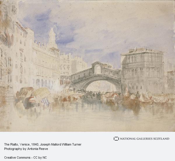 Joseph Mallord William Turner, The Rialto, Venice (About 1819 - 1835)
