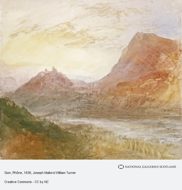 Joseph Mallord William Turner, Sion, Rhone (or Splugen)