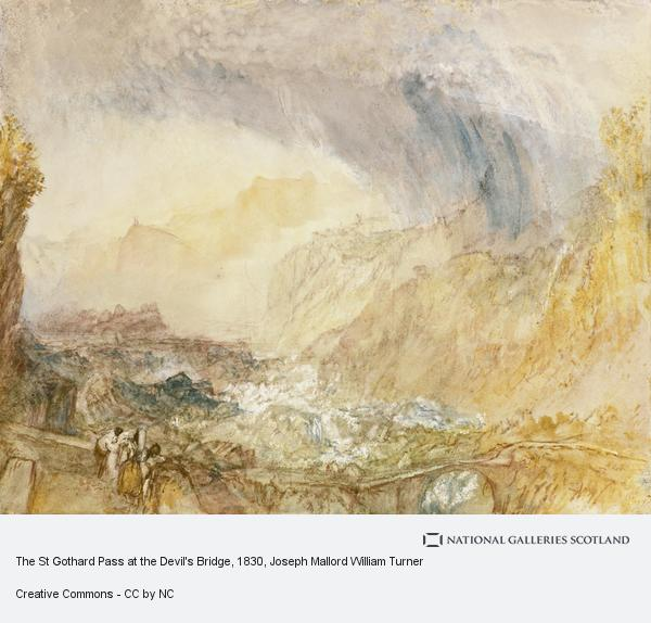 Joseph Mallord William Turner, The St Gothard Pass at the Devil's Bridge