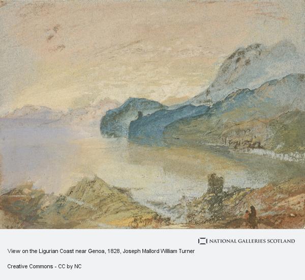 Joseph Mallord William Turner, View on the Ligurian Coast near Genoa