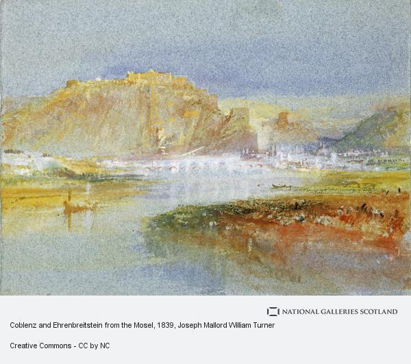 Joseph Mallord William Turner, Ehrenbreitstein from the Mosel (1839)