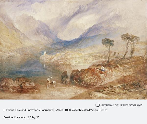 Joseph Mallord William Turner, Llanberis Lake and Snowdon - Caernarvon, Wales