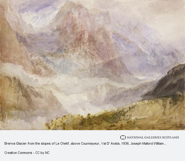 Joseph Mallord William Turner, Brenva Glacier from the slopes of Le Chetif, above Courmayeur, Val D' Aosta