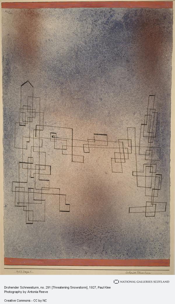 Paul Klee, Drohender Schneesturm, no. 291 [Threatening Snowstorm]