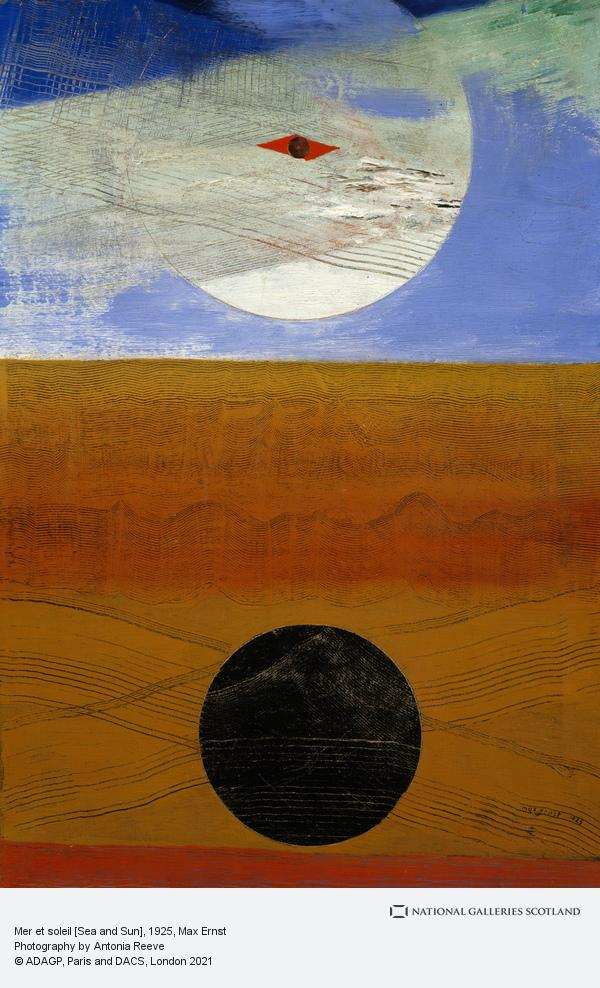 Max Ernst, Mer et soleil [Sea and Sun] (Dated 1925)