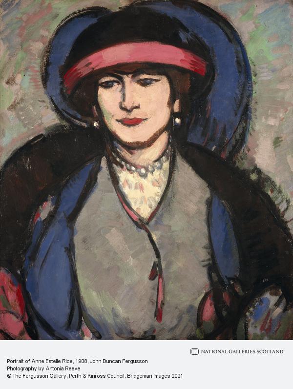 John Duncan Fergusson, Portrait of Anne Estelle Rice (1908)
