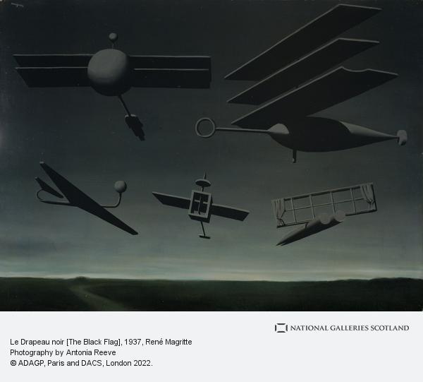 Rene Magritte, Le Drapeau noir [The Black Flag] (1937)