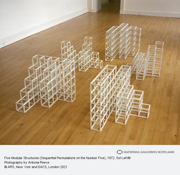 Sol LeWitt, Five Modular Structures (Sequential Permutations on the Number Five)