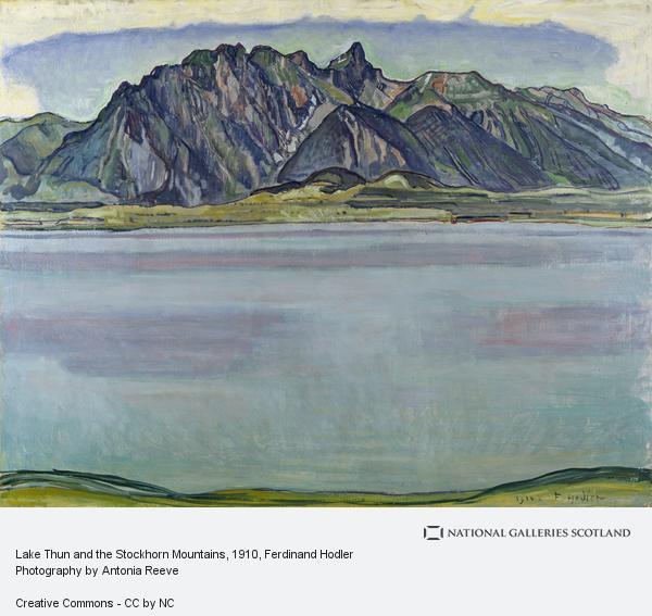 Ferdinand Hodler, Lake Thun and the Stockhorn Mountains