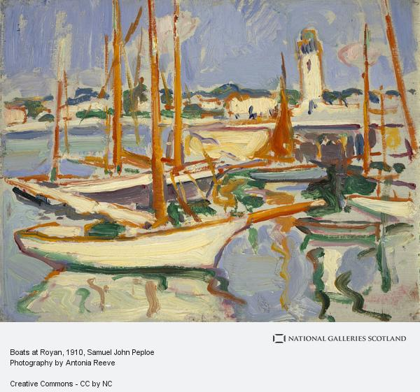 Samuel John Peploe, Boats at Royan (1910)