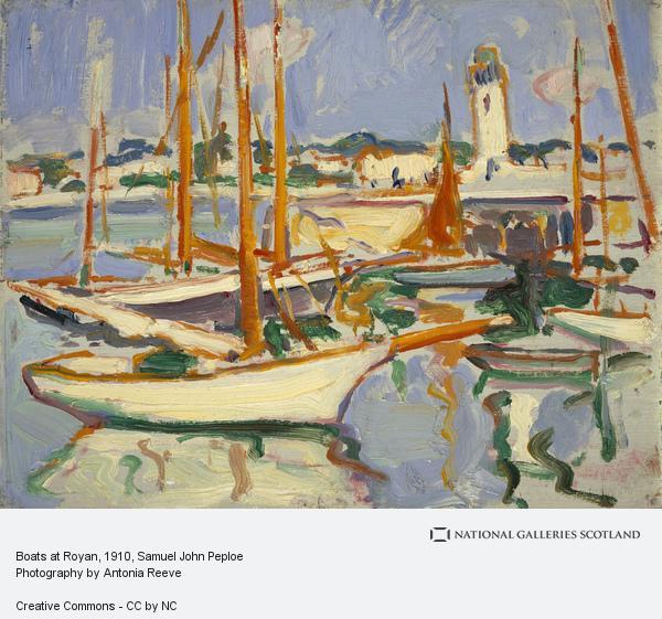 Samuel John Peploe, Boats at Royan (1910)