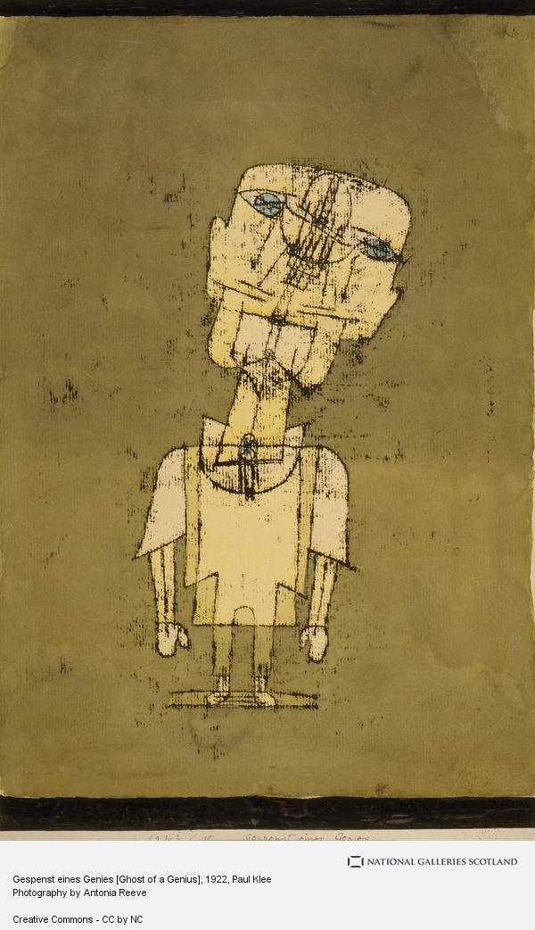 Paul Klee, Gespenst eines Genies [Ghost of a Genius]