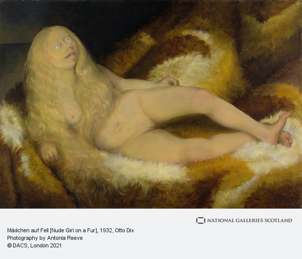 Otto Dix, Mädchen auf Fell [Nude Girl on a Fur] (1932)