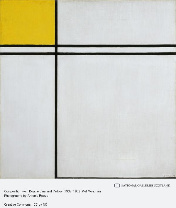 Piet Mondrian, Composition with Double Line and Yellow, 1932