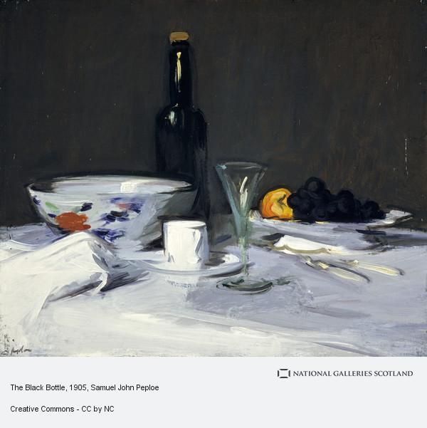 Samuel John Peploe, The Black Bottle