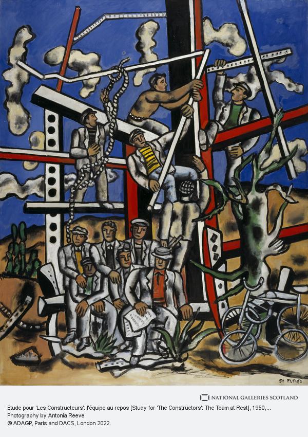 Fernand Léger, Etude pour 'Les Constructeurs': l'équipe au repos [Study for 'The Constructors': The Team at Rest]