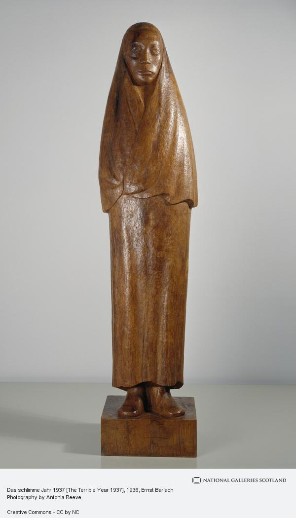Ernst Barlach, Das schlimme Jahr 1937 [The Terrible Year 1937] (1936)