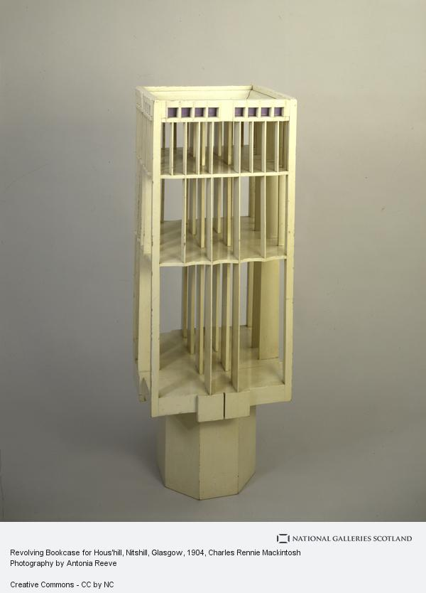 Charles Rennie Mackintosh, Revolving Bookcase for Hous'hill, Nitshill, Glasgow (1904)
