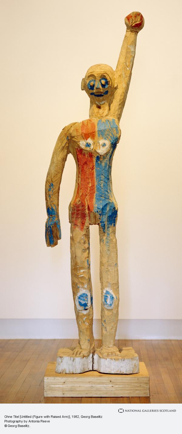 Georg Baselitz, Ohne Titel [Untitled (Figure with Raised Arm)] (1982 - 1984)
