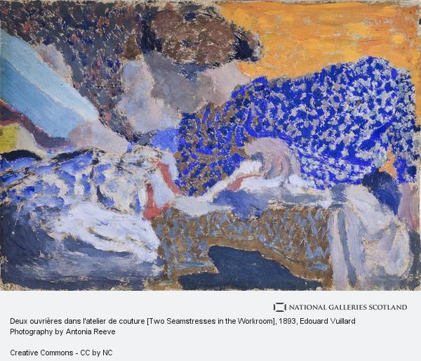 Edouard Vuillard, Deux ouvrières dans l'atelier de couture [Two Seamstresses in the Workroom]