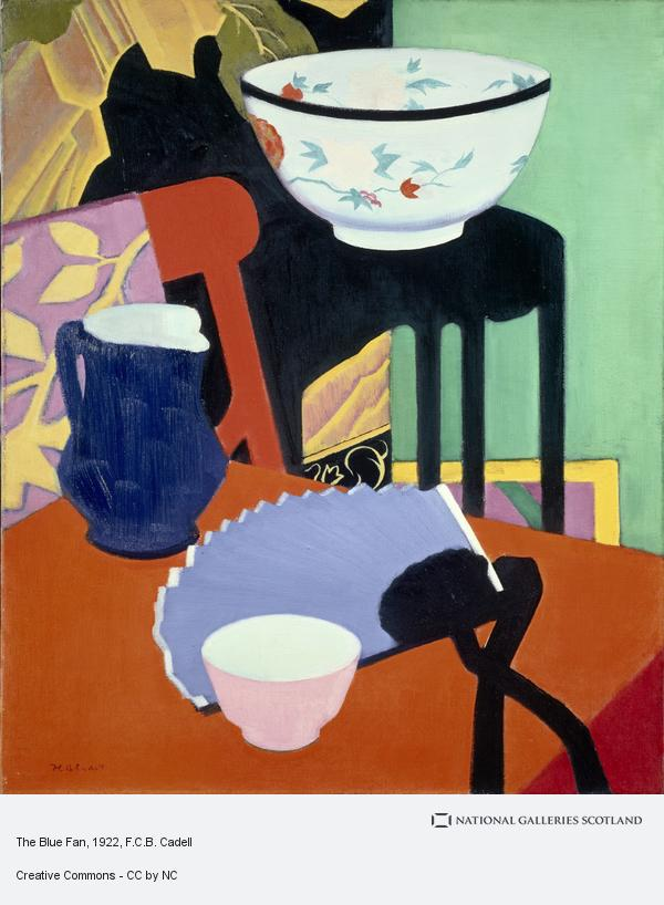 Francis Campbell Boileau Cadell, The Blue Fan (About 1922)