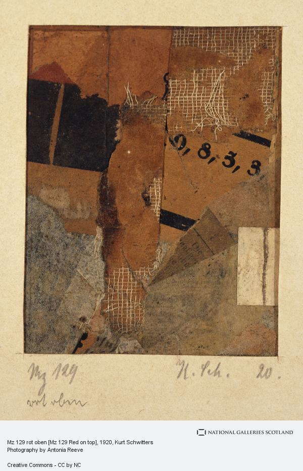 Kurt Schwitters, Mz 129 rot oben [Mz 129 Red on top]