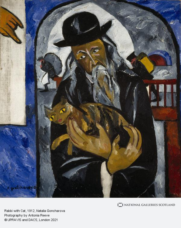 Natalya Goncharova, Rabbi with Cat
