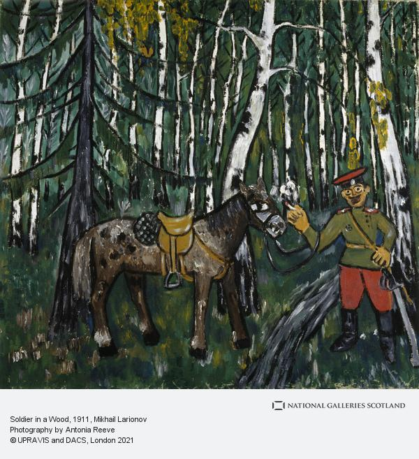 Mikhail Larionov, Soldier in a Wood