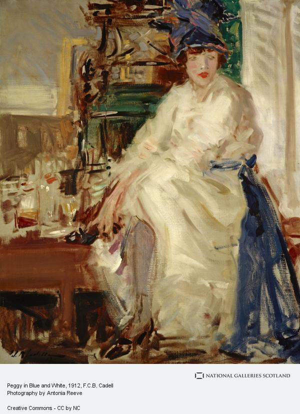 Francis Campbell Boileau Cadell, Peggy in Blue and White