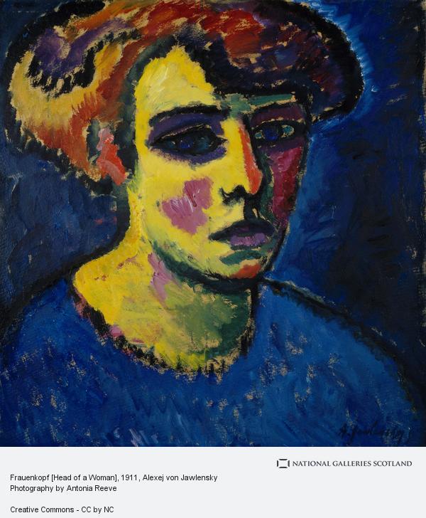 Alexej von Jawlensky, Frauenkopf [Head of a Woman]