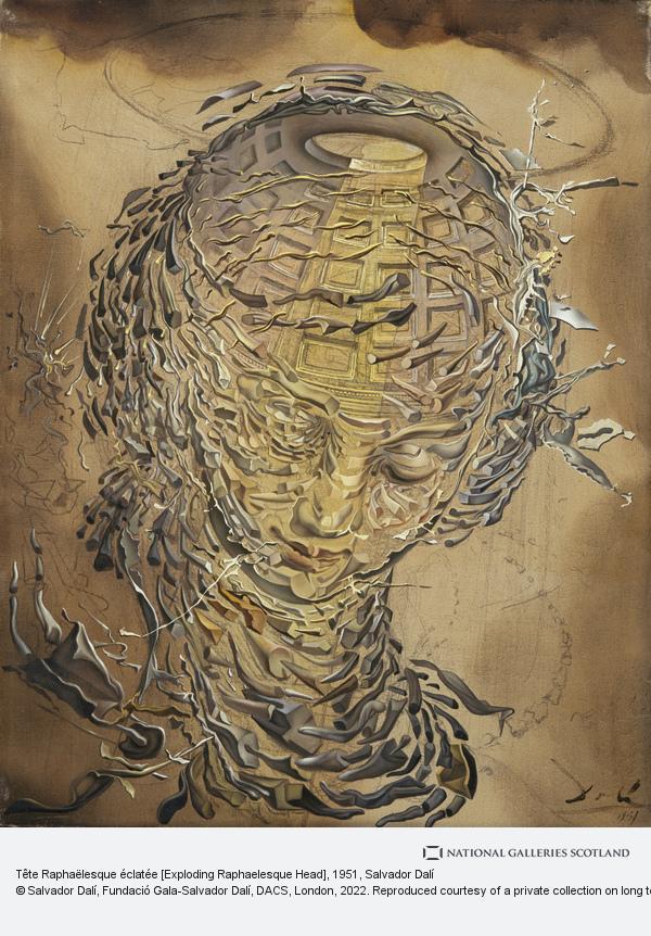 Salvador Dalí, Tête Raphaëlesque éclatée [Exploding Raphaelesque Head]