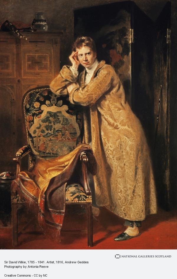 Andrew Geddes, Sir David Wilkie, 1785 - 1841. Artist