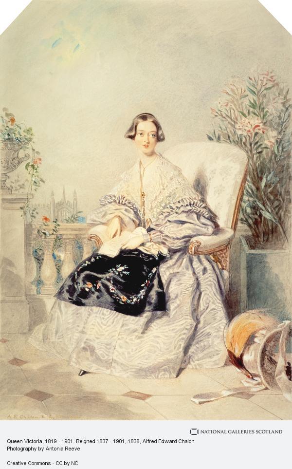 Alfred Edward Chalon, Queen Victoria, 1819 - 1901. Reigned 1837 - 1901